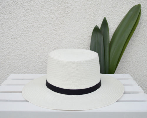 PALMA Handwoven Hat- Black Band