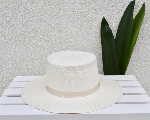 PALMA Handwoven Hat- Ivory Band