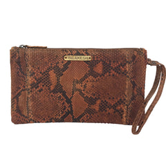 SNAKESKIN WRISTLET in Tan