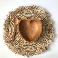 Heart Teak Bowl Set