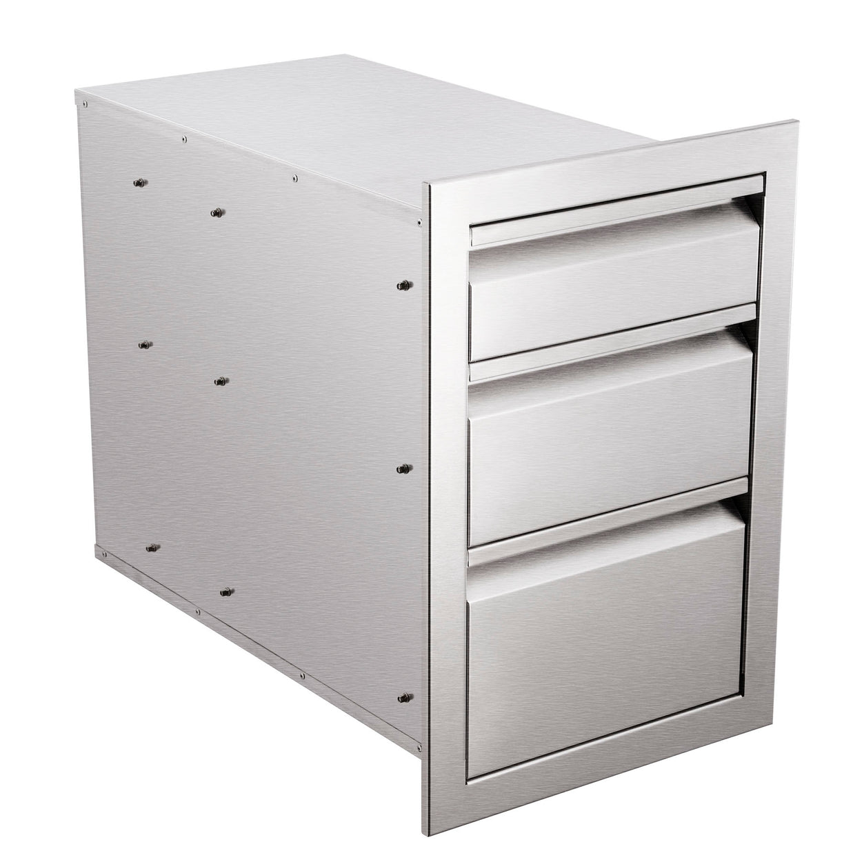 18in Triple Worktable Drawer BBQ Access Drawer Storage with Invisible Handles