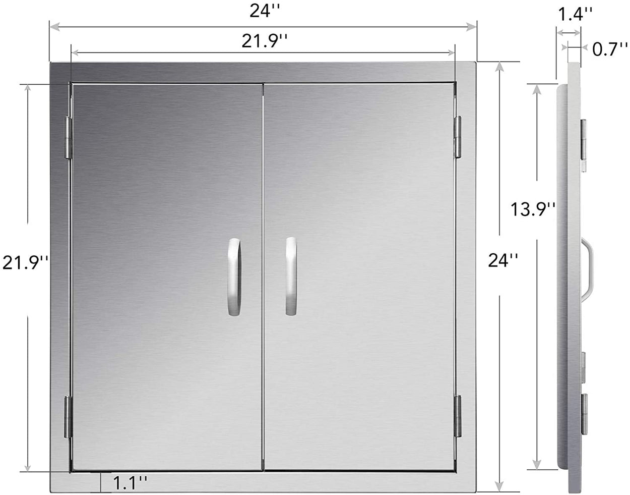 Upgraded Outdoor Kitchen Doors