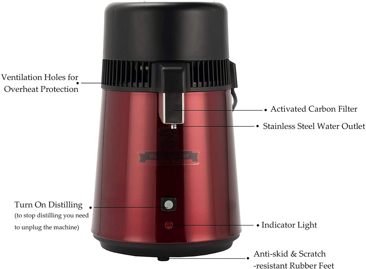 CO-Z Water Distiller (Red)