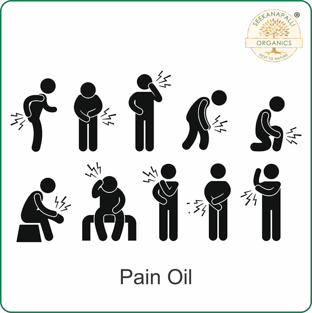 Seekanapalli Organics Pain Relief Oil for Joint, Back, Knee, Shoulder and Muscular Pain 200 ml Buy 1 Get 1 Free