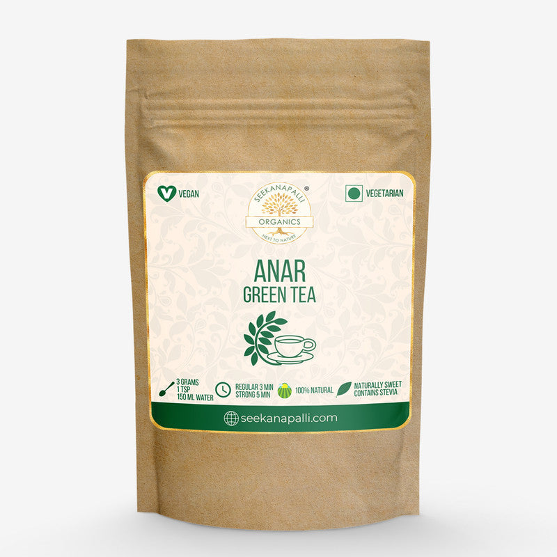 Seekanapalli Organics Anar Pomegranate Green Tea 400 gram
