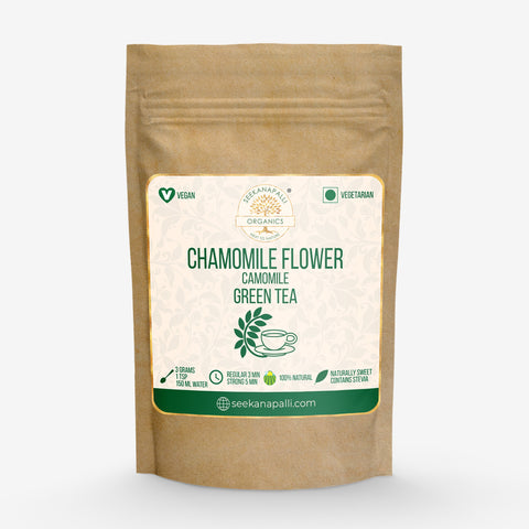 Seekanapalli Organics Dried Chamomile [Kamilla] Flower Green Tea (300 gram)