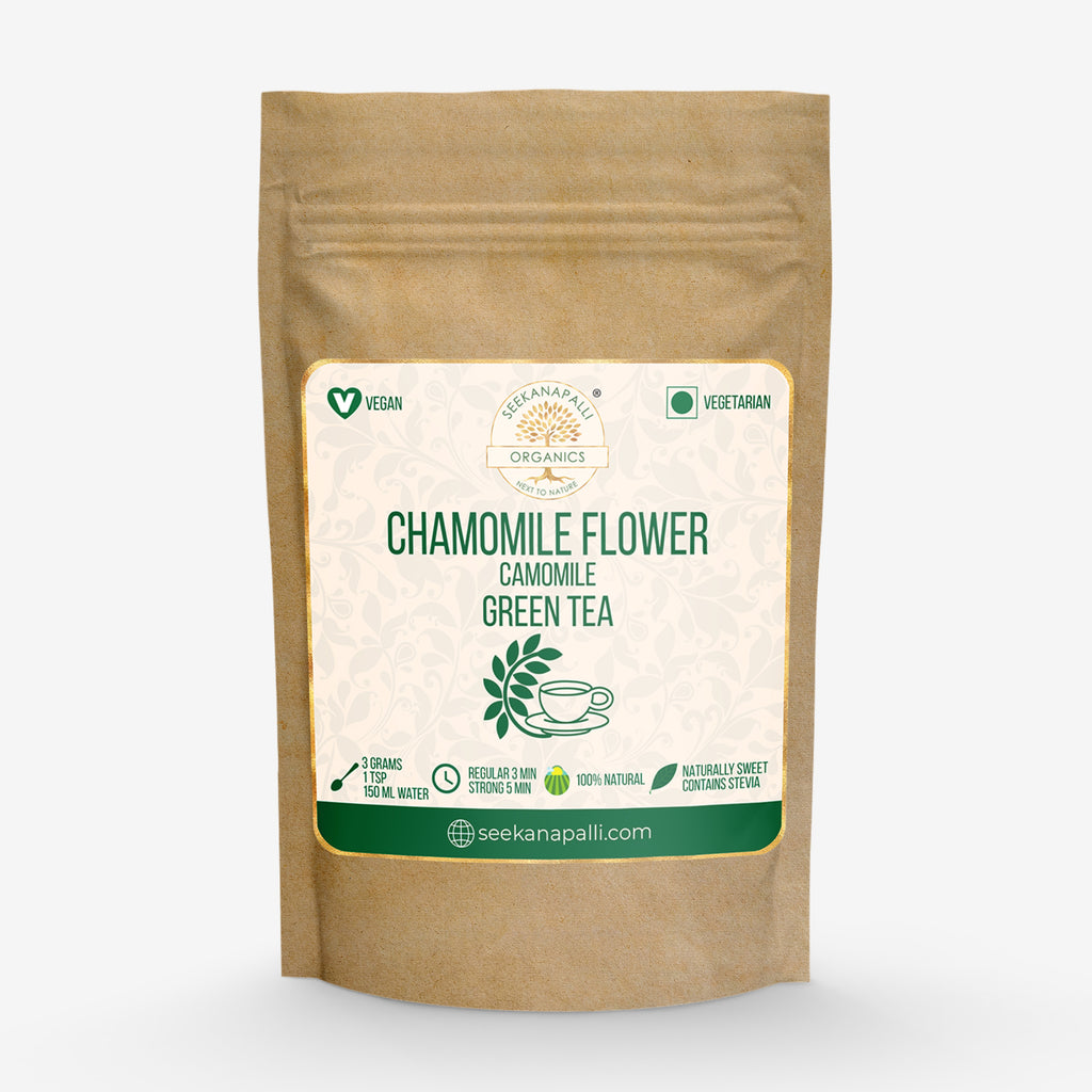 Seekanapalli Organics Dried Chamomile [Kamilla] Flower Green Tea (1 Kg)