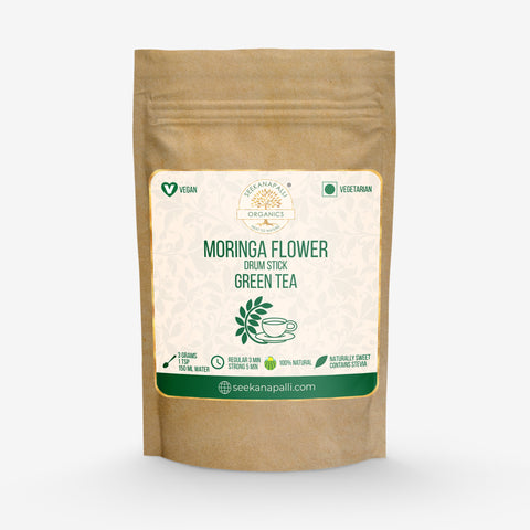 Seekanapalli Organics Dried Moringa (Drumstick) Flower Green Tea (50 gram)
