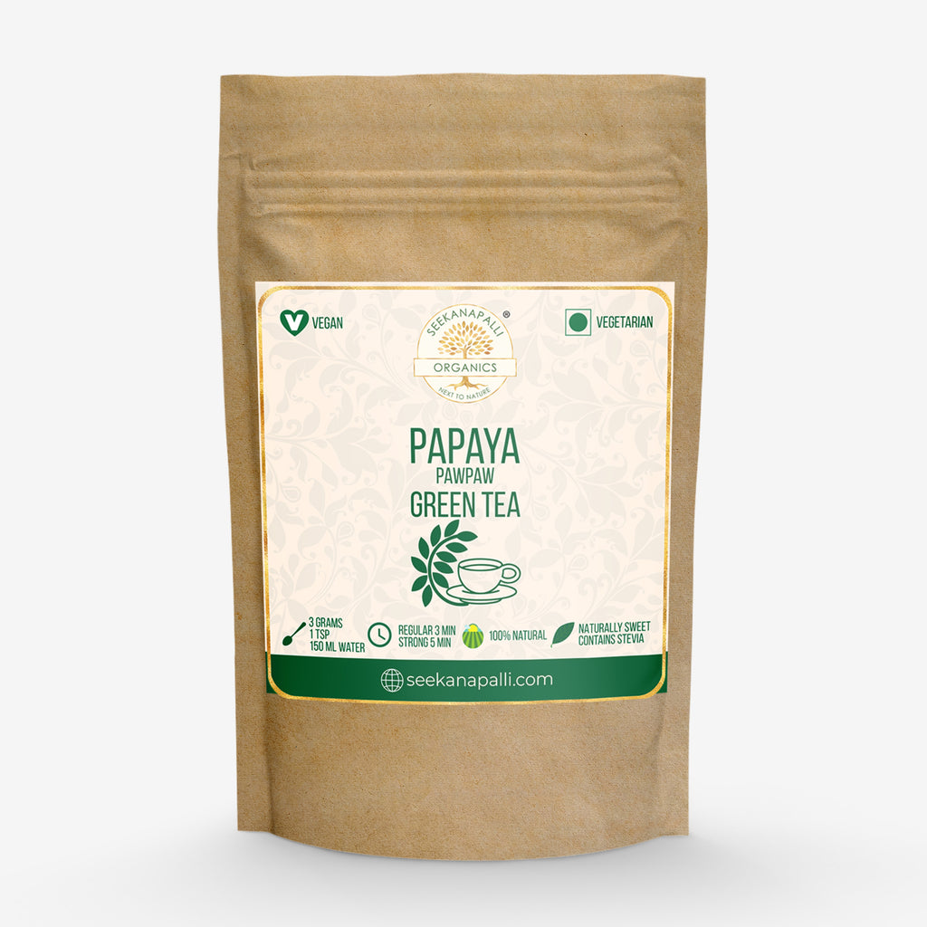 Seekanapalli Organics Papaya PawPaw Green Tea 250 gram