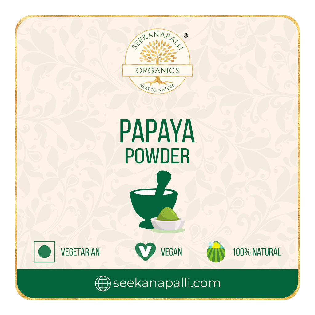 Seekanapalli Organics Papaya Dried Leaves Powder 1000 gram