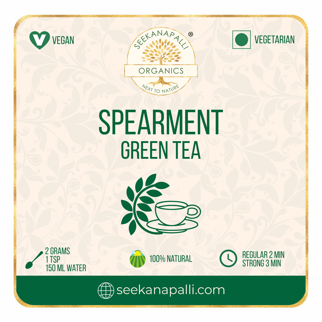 Seekanapalli Organics Spearmint Garden Mint Green Tea 500 gram