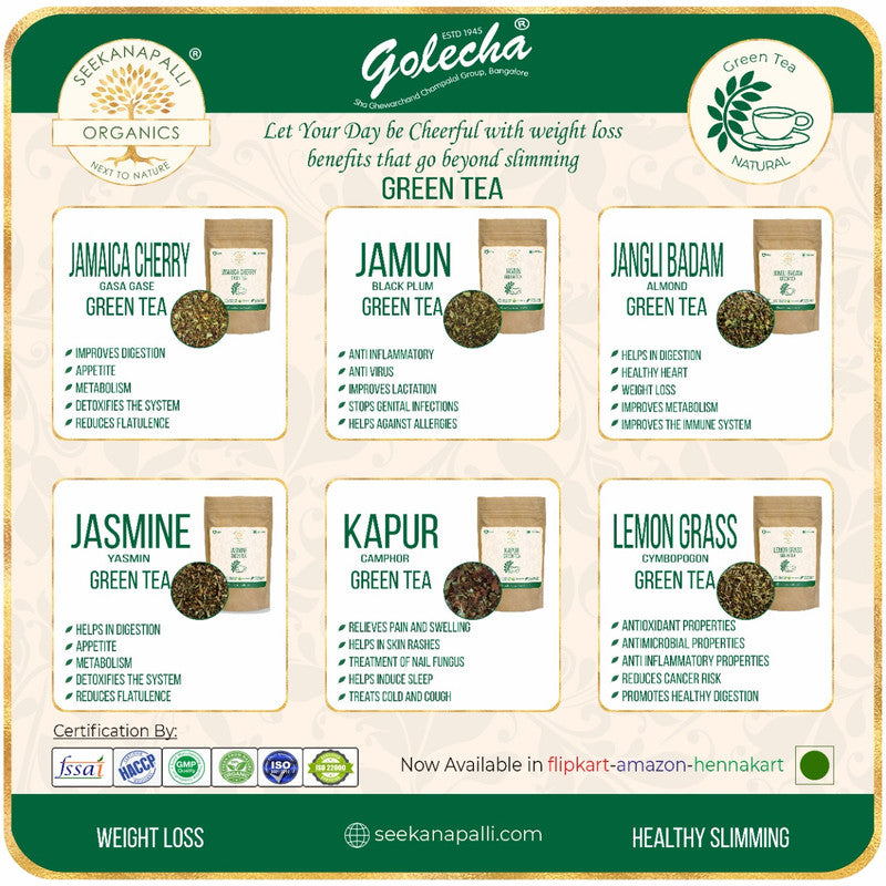 Seekanapalli Organics Anjeer Fig Green Tea 250 gram