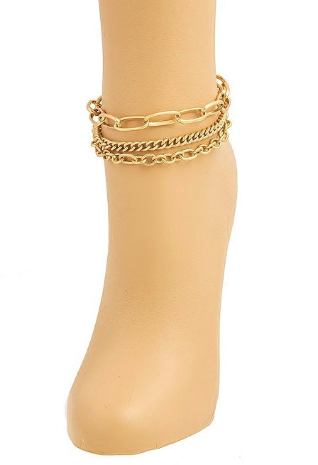 TRIO LINK CHAIN ANKLET