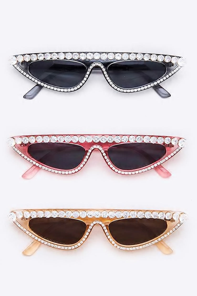 SKINNY FLAT TOP CRYSTAL CAT SHADES