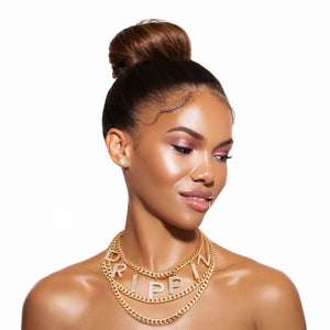 DRIPPIN STATEMENT CHAIN NECKLACE