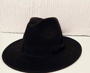 BOUGIE BLACK FEDORA HAT