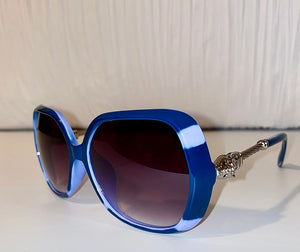 BOSS BLUE LEOPARD BIT SHADES