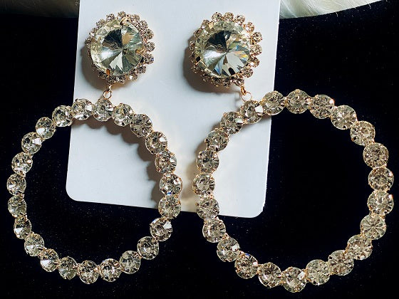 CRYSTAL RHINESTONE SHIMMER EARRINGS