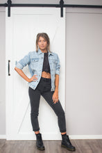 Load image into Gallery viewer, Willow Oversized Denim Jacket