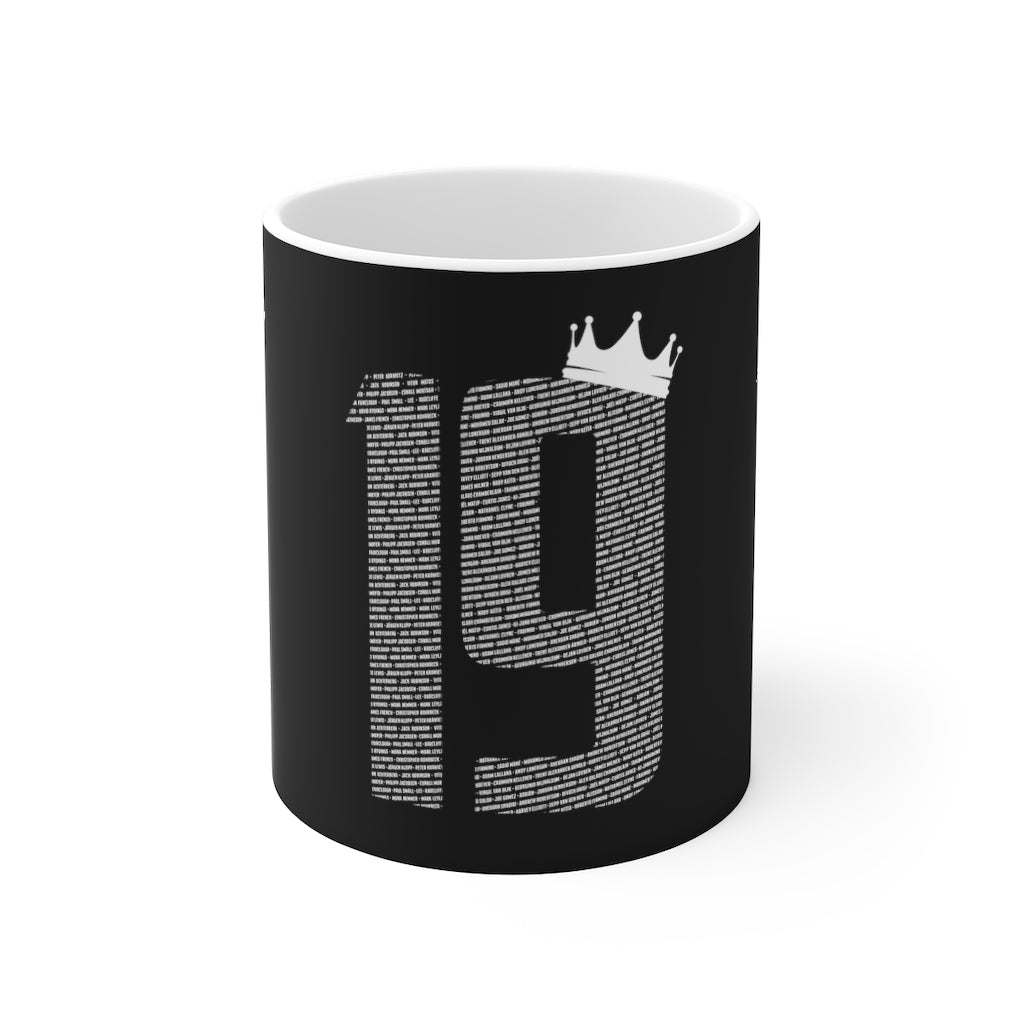 19 Crown Champions 19/20 Mug (White Print on Black)