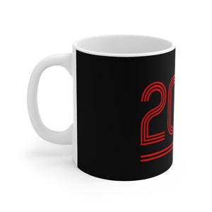 2020 Retro - Champions 19/20 Mug (Red & White Print on Black)