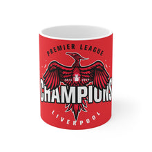 Load image into Gallery viewer, Champions 19/20 Big Bird Mug (White & Black Print on Red)