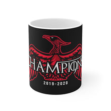 Load image into Gallery viewer, Champions 19/20 GOT Mug (White & Red Print on Black)