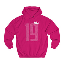 Load image into Gallery viewer, Champions 19/20: 19 Crown - White Font - Unisex College Hoodie