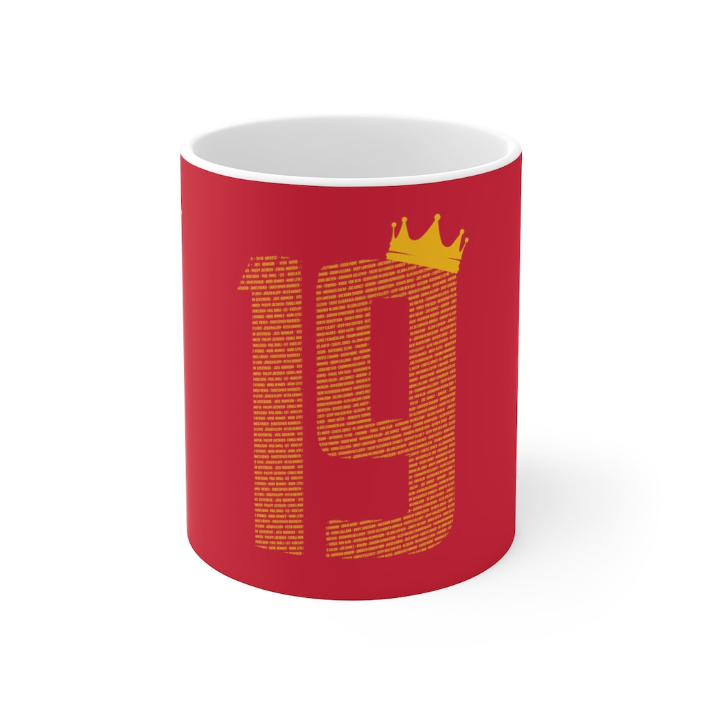 19 Crown Champions 19/20 Mug (Yellow Print on Red)