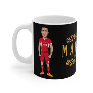 Maestro - Thiago Alcantara Caricature Mug (Black Background)