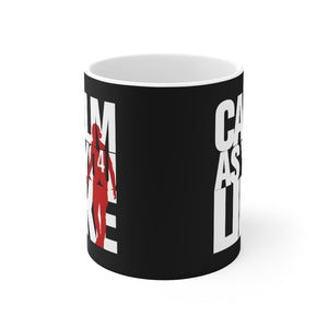 Calm As You Like VVD Mug (White & Red Print on Black)