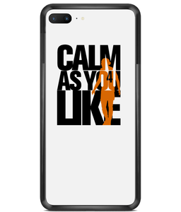 Premium Hard Phone Cases - Calm As You Like (Orange)