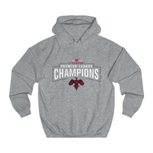 Load image into Gallery viewer, Champions 19/20 - Small Bird - White - Unisex College Hoodie
