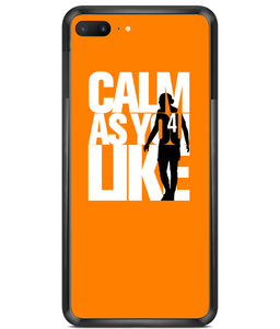 Premium Hard Phone Cases - Calm As You Like (White)