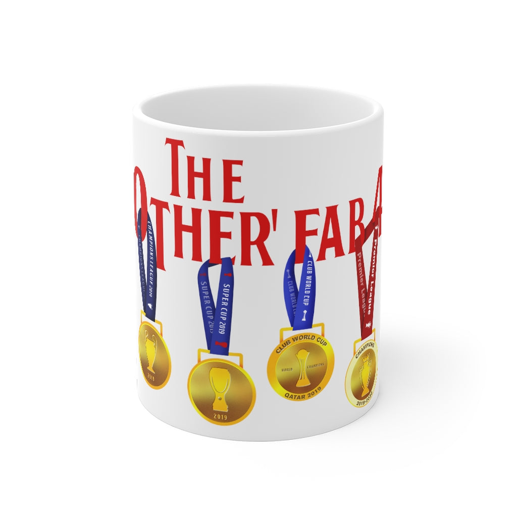 The Other Fab 4 - Champions 19/20 Mug (Red Text on White)
