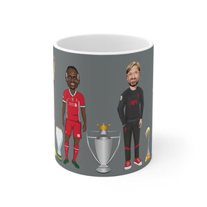 Front 3 & Klopp Caricature Mug (Grey Background)