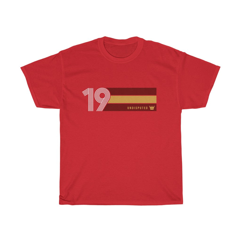 Undisputed 19 (On Red) - Unisex Heavy Cotton Tee