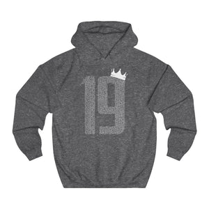 Champions 19/20: 19 Crown - White Font - Unisex College Hoodie