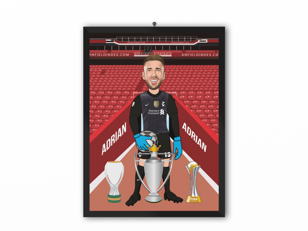 Adrian - Liverpool 20/21 Caricature Illustration Print - A3, A4 or A5