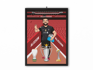 Alisson - Liverpool 20/21 Caricature Illustration Print - A3, A4 or A5