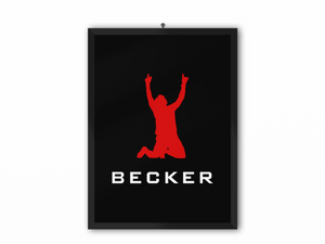 Becker Print Red on Black - A3, A4 or A5