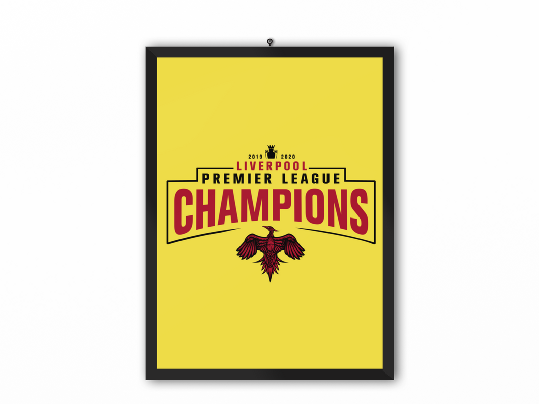 Champions 19/20 Print Yellow - A3, A4 or A5