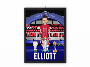 Harvey Elliot - Champions 19/20 Caricature Illustration Print - A3, A4 or A5