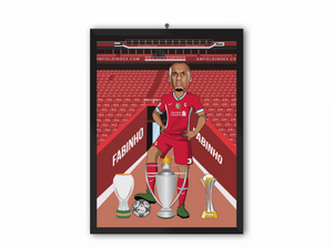 Fabinho - Liverpool 20/21 Caricature Illustration Print - A3, A4 or A5