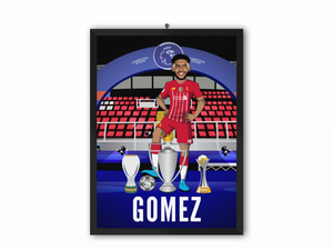 Joe Gomez - Champions 19/20 Caricature Illustration Print - A3, A4 or A5