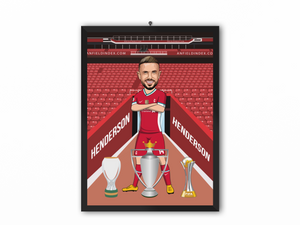 Jordan Henderson - Liverpool 20/21 Caricature Illustration Print - A3, A4 or A5