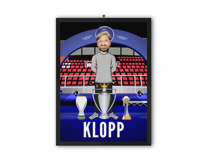 Jurgen Klopp - Champions 19/20 Caricature Illustration Print - A3, A4 or A5