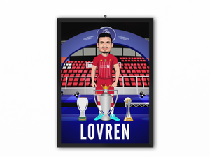 Dejan Lovren - Champions 19/20 Caricature Illustration Print - A3, A4 or A5
