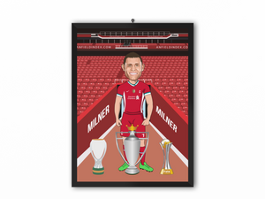 James Milner - Liverpool 20/21 Caricature Illustration Print - A3, A4 or A5