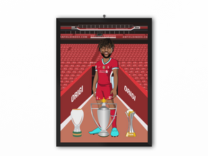 Divock Origi - Liverpool 20/21 Caricature Illustration Print - A3, A4 or A5